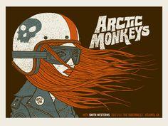 Arctic Monkeys concert poster by Methane Studios - Methane Studios - Gallery