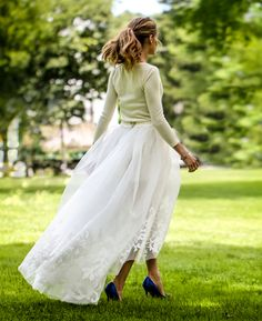 Cele|bitchy | Olivia Palermo's Carolina Herrera two-piece wedding dress: cute or budget?  Gorgeous!