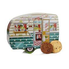 Debenhams Caravan biscuit tin- at Debenhams Mobile | Sold in England