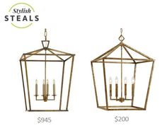 - Overview - Details - Why We Love It This open cage lantern is hands down one of the best Stylish Steals we've ever seen- like we seriously cannot contain our excitement (see image and price comparis Modern Kitchen Lighting, Kitchen Lighting Fixtures, Kitchen Pendant Lighting, Kitchen Pendants, Light Fixtures, Pendant Lights, Cage Light Fixture, Bathroom Lighting, Lantern Light Fixture