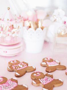 Feminine winter style, pom pom hats, mommy and me, gingerbread, gingerbread man, pink gingerbread