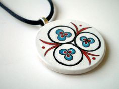 Cintemani Ottoman Art Necklace Hand Painted by ShebboDesign, $30.00