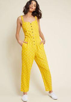 067d9fc4794 Every Waking Momentum Cotton-Linen Jumpsuit