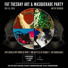 It's not too early to plan for your #FatTuesday #MardiGras! @truenorthtavern #SanDiego #SD #art #fluidart #vinyljunkie #abstractart #northparksandiego #northpark