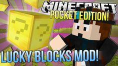 Minecraft Pocket Edition | LUCKY GOLD BLOCKS MOD | Mod Showcase 0.9.5