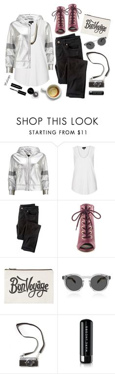 """""""~If I could make days last forever, if words could make wishes come true~"""" by maloops ❤ liked on Polyvore featuring Norma Kamali, Topshop, Wrap, Michael Antonio, ALPHABET BAGS, Marc Jacobs, Bobbi Brown Cosmetics, StreetStyle, metallic and CroppedHoodie"""
