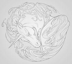 Mandala de unicornio Horse Coloring Pages, Colouring Pics, Coloring Pages To Print, Adult Coloring Pages, Coloring Books, Evil Unicorn, Unicorn Art, Printable Pictures, Horse Drawings