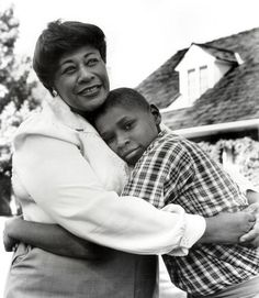 Ella Fitzgerald and son, Ray Brown Jr Sound Of Music, My Music, Music Life, Newport, Billy Holiday, Beverly Hills, Swing, Classic Jazz, Virginia