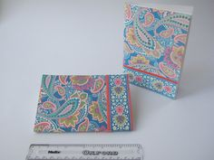 Turquoise paisley notebook