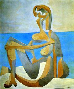 Pintura Abstrata Mulher Na Praia Pintor Picasso Tela Repro ... Descrição do anúncio. Reprodução na tela para pessoas de. Bom Gosto!!!! Giclee ... Tamanho imagem : 42 cm X 51 cm