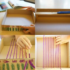 How to Make a Simple Box Loom Weaving 2019 Easy box loom weaving for kids Yarn Crafts, Diy And Crafts, Arts And Crafts, Craft Activities For Kids, Projects For Kids, Winter Crafts For Kids, Art For Kids, Weaving For Kids, Loom Craft