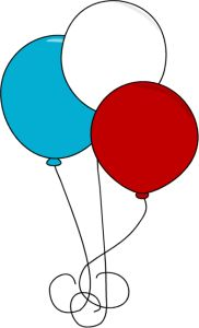 Fourth of July Balloons Clip Art - Fourth of July Balloons Image More