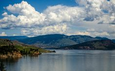 Okanagan Lake, known for the legendary Ogopogo Monster (relative of the Loch Ness Monster), has many wonderful views from along its north arm. This is where it reaches Vernon, BC.