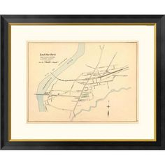 "Global Gallery East Hartford, Connecticut, 1893 Framed Graphic Art Size: 26"" H x 32"" W x 1.5"" D"