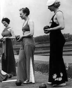 I love this because this is pretty much what I'm wearing right now.   Lawn Bowling in Beach Pajamas