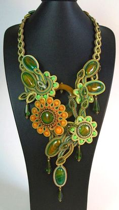 Jurassic by Anneta Valious - 3rd place, Finished Jewelry - 2013 Bead Dreams competition