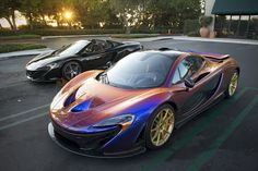 Chameleon McLaren P1 and Black 650S Spider by +Axion23