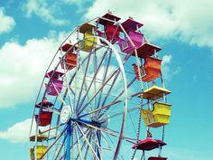 Carnival Photography of Ferris Wheel at Summer Fair by Beach Bum Chix