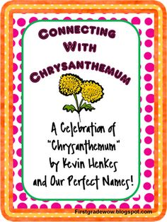 Excellent Chrysanthemum unit! Crumpled heart activity, craftivity, and poems included.