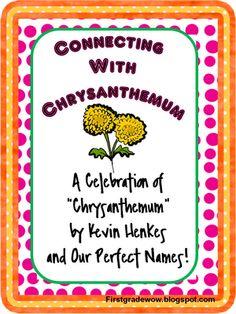 Free 16 page unit for Chrysanthemum :) First day of school. Soooooo cute!