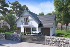 Projekt domu HP Taylor D Modern CE - DOM - gotowy koszt budowy Modern Bungalow House, Home Fashion, My House, House Plans, Sweet Home, Layout, House Styles, Classic, Outdoor Decor