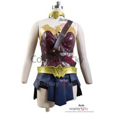 Deluxe Justice League Wonder Woman Cosplay Costume -3