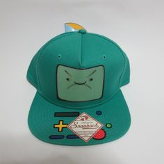 fa71c62f33a36 Adventure Time Jake and Finn Changing Faces Snapback Hat Green  Bioworld   BaseballCap Adventure Time