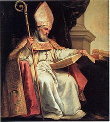 """Saint Isidore of Seville-- (560 – 04/636) a scholar and, for over three decades, Archbishop of Seville, is widely regarded as the last of the Fathers of the Church, as the 19th-century historian Montalembert put it in an oft-quoted phrase, """"The last scholar of the ancient world."""""""