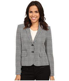 Calvin Klein Calvin Klein  Plaid Two Button JacketEggshell Womens Jacket for 90.99 at Im in! #sale #fashion #I'mIn