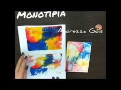 MONOTIPIA - SIMPLES E COLORIDA - YouTube Guache, Printmaking, Youtube, Make It Yourself, Studying, Blog, Artist's Book, Colorful, Simple