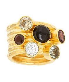 Jewelled Layered Ring   #Fashion #BitaPourtavoosi #Crystals #Rings