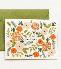 Note Cards from Rifle Paper Co.  $4-16.00.