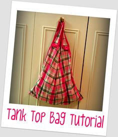 Tutus and Tea Parties: {Tutorial} No-Sew Tank Top Bag