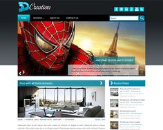 3DCreation WordPress theme