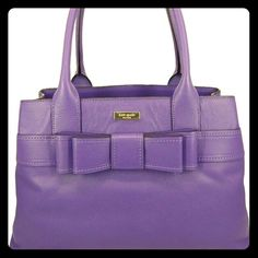 """Kate Spade Elena Villa Avenue Satchel/Tote Absolutely stunning KS Aster Purple hue, leather hand bag, roomy interior w/ black/white lining, 3 compartments: 1 zipped pocket, 2 slip pockets. Measurements: 11.25"""" L, 9"""" H, 4.5"""" D, 7"""" Handle Drop. A woman rockin' this beauty is fun loving, yet is able to juggle a successful career with being a wife & hot mama! kate spade Bags Satchels"""