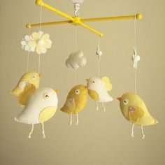 Baby crib mobile by atelierbloom