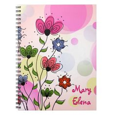 Pretty Abstract Spring Flowers Journal/Notebook