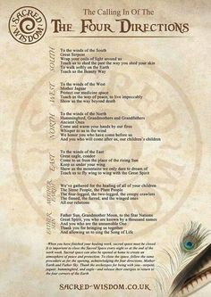 Calling In Of The Four Directions (Printable Spell Page) – Witches Of The Craft®