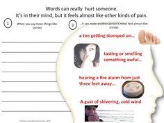 Words Hurt worksheet
