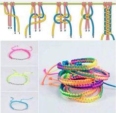 pulseiras coloridas trançadas #macrame