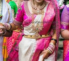 Bride in Tremendous Temple Jewelry | Jewellery Designs
