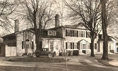 The Historic Bellevue house in Amherstburg shown in a 1946 photo. The home has been put on Heritage Canada's endangered list. Bellevue House, Windsor Ontario, Essex County, Old Country Stores, Star Wars, Property Development, Local History, My Town, Abandoned Houses