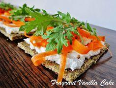Raw Carrot Chevre Flatbreads
