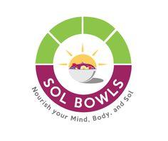 logo design for SOL BOWLS by the Logo boutique - #healthyfoodlogo #bowlslogo #sollogo Best Logo Design, Custom Logo Design, Custom Logos, Ls Logo, Logo Restaurant, Cool Logo, Bowls, Restaurants, Boutique