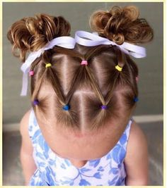 Hairstyle For Girls Toddler Hair Dos, Cute Toddler Hairstyles, Kids Curly Hairstyles, Baby Girl Hairstyles, Holiday Hairstyles, Girl Hair Dos, Afro, Curly Hair Styles, Hair Beauty