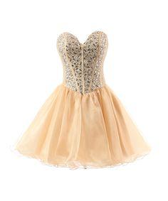 pink sweetheart mini rhinestone organza dresses