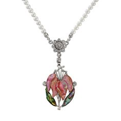 Mother of Pearl Pink Orchid Flower Design Shell Natural Freshwater White Pearl Chain Pendant Nec Hanging Paintings, Mother Of Pearl Necklace, Pearl Design, Pink Orchids, Pearl Chain, Chain Pendants, Pearl White, Flower Designs, Best Gifts