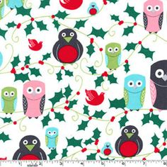 Cute fabric for a christmas stocking