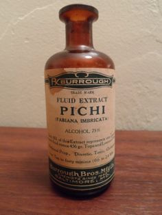 Rare Burrough Brothers Pichi Medicine Bottle - Baltimore, Maryland
