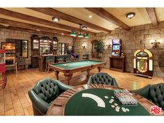 he home is equipped with every toy desired, Game room, Poker room, Professional Spa, with Salon and treatment rooms, Theatre, Wine Cellar, full size Children's Playhouse.